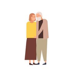 Modern elderly couple flat vector