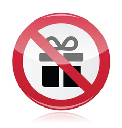 No presents red warning signs - vector image