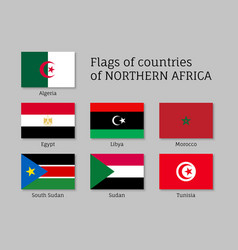 northern africa flag set vector image