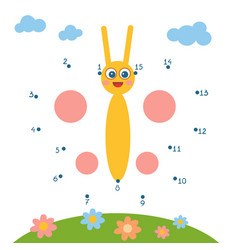 numbers game for children butterfly vector image