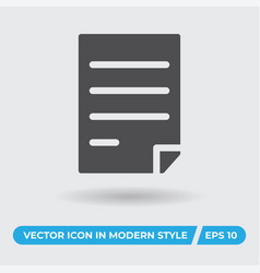 paper with text icon simple sign for web site and vector image