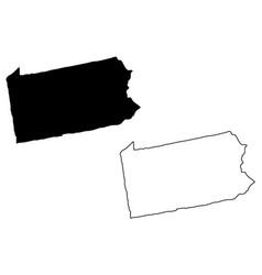 Pennsylvania map vector