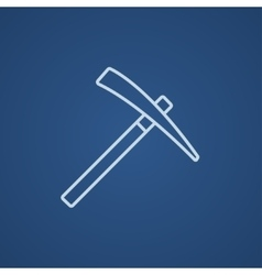 Pickax line icon vector image