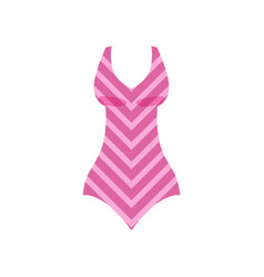 pink striped swimsuit womens fashion beachwear vector image