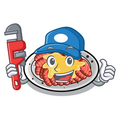 Plumber carpaccio in a character shape vector