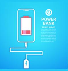 portable battery power bank charging modern mobile vector image