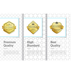 premium best quality banners vector image