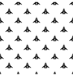 Rocket takes off pattern simple style vector