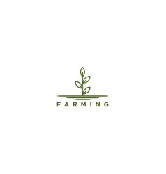 Seed farming logo nature modern design vector