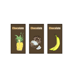 set of chocolate bar package vector image