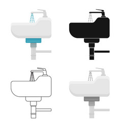 sink icon in cartoon style isolated on white vector image