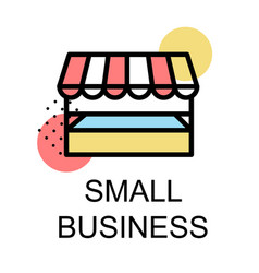 small business icon for business on white vector image
