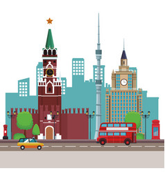 Spasskaya tower icon vector