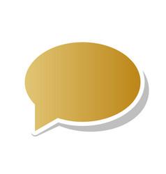 Speech bubble icon golden gradient icon vector