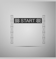 starting line icon on grey background start sign vector image
