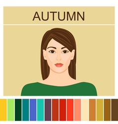 Stock autumn type female appearance vector