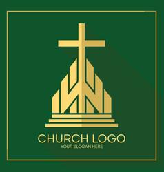 Stylish cross jesus christ vector