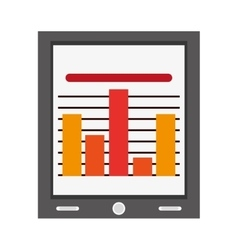 Tablet with bar graph vector