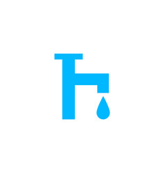 tap water icon logo template vector image