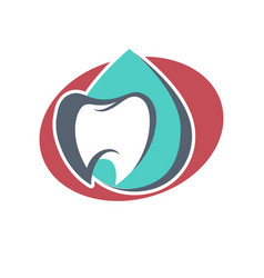 tooth logo template for dentistry or dental vector image