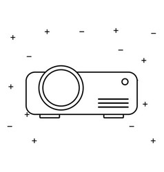 Video beam projector isolated icon vector