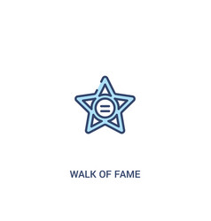 Walk fame concept 2 colored icon simple line vector