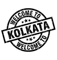 Welcome to kolkata black stamp vector