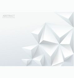white geometrical backgroundwith triangles vector image