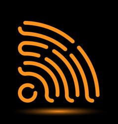 Wi-fi neon icon vector