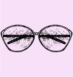 womens fashion sunglasses vector image