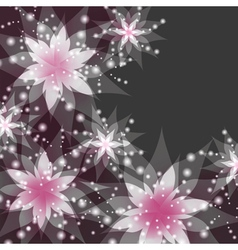 Floral background greeting or invitation card vector image vector image
