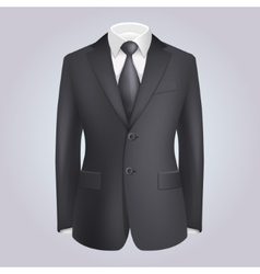 Male Clothing Dark Suit with Tie vector image vector image