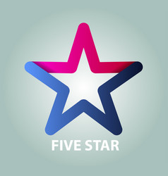 five star vector image vector image
