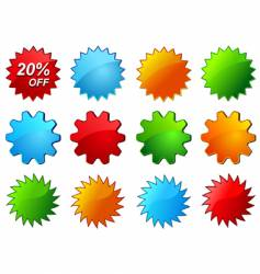 glossy labels for sale promotion vector image