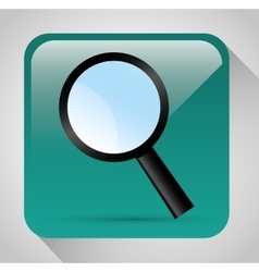 Magnifying glass graphic vector image