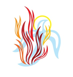 Holy spirit fire vector image vector image