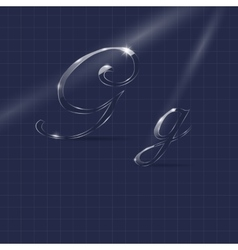 Letters G Writing in Italics vector image