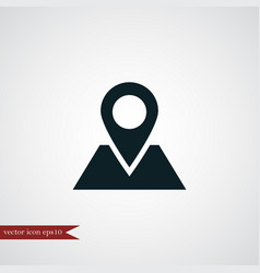 location icon simple vector image