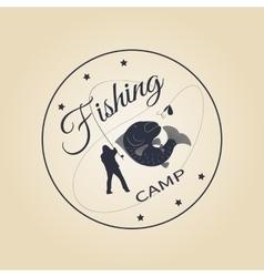 logo fishing camp vector image