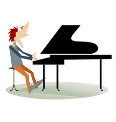 pianist man isolated vector image vector image