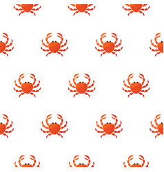 red crab cartoon pattern vector image vector image