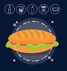 sandwich for family summer picnic vector image vector image