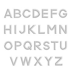 Decorative isolated alphabet vector image vector image