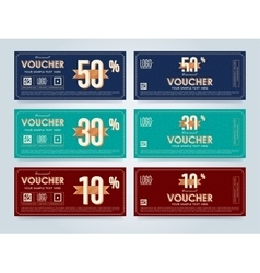 Gift voucher template layout vector image vector image