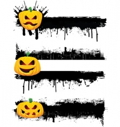 Grunge halloweenborders vector