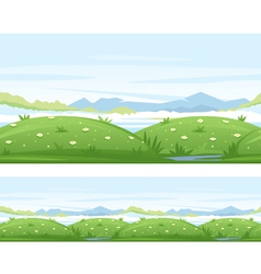 Meadows Game Background vector image vector image