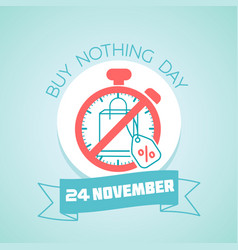 20 november buy nothing day vector