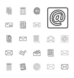 22 newsletter icons vector