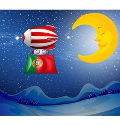 A floating balloon with the flag of Portugal vector image