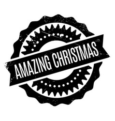 Amazing christmas rubber stamp vector